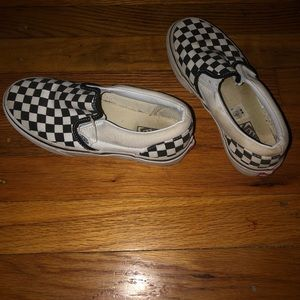 9e14ab0c700ad7 Vans Shoes - Vans Old Skool Checkered Slip Ons